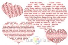 Cara Membuat Teks Dalam Hati